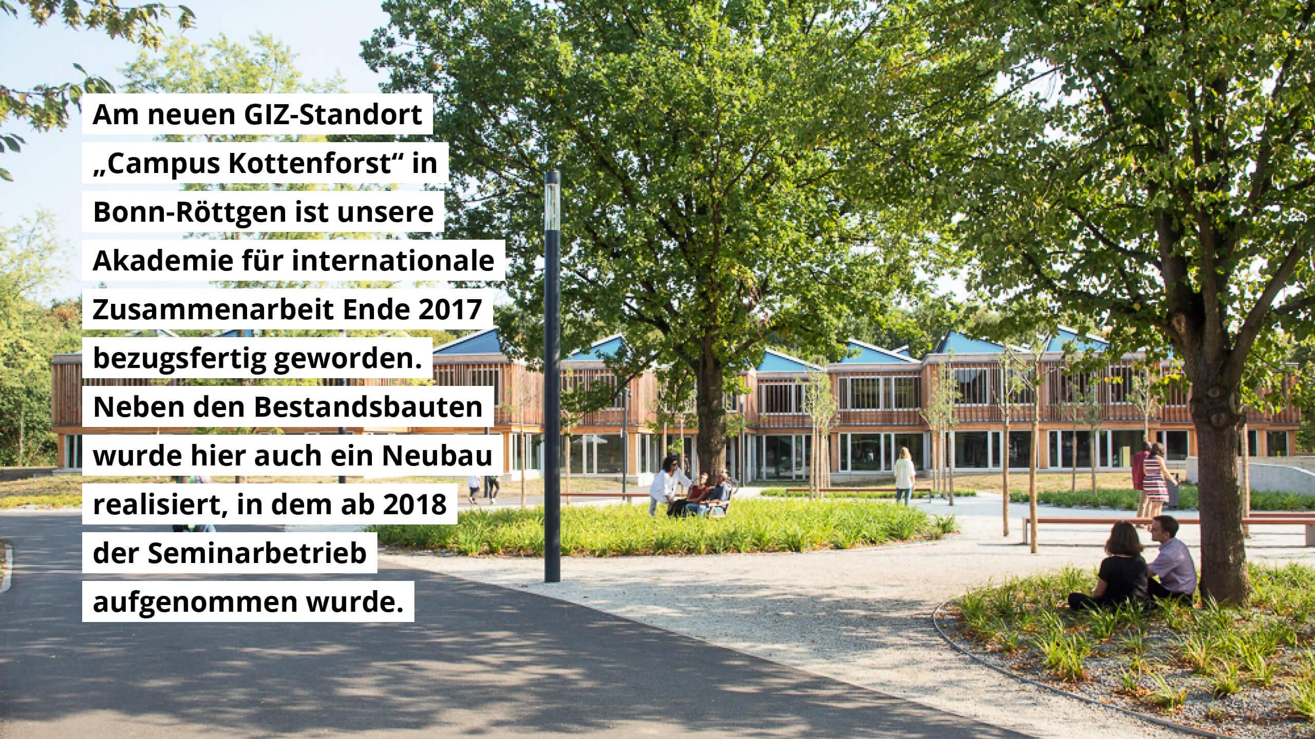 """Am Standort """"Campus Kottenforst"""" wurde neben Bestandsbauten auch ein Neubau für den Seminarbetrieb realisiert."""