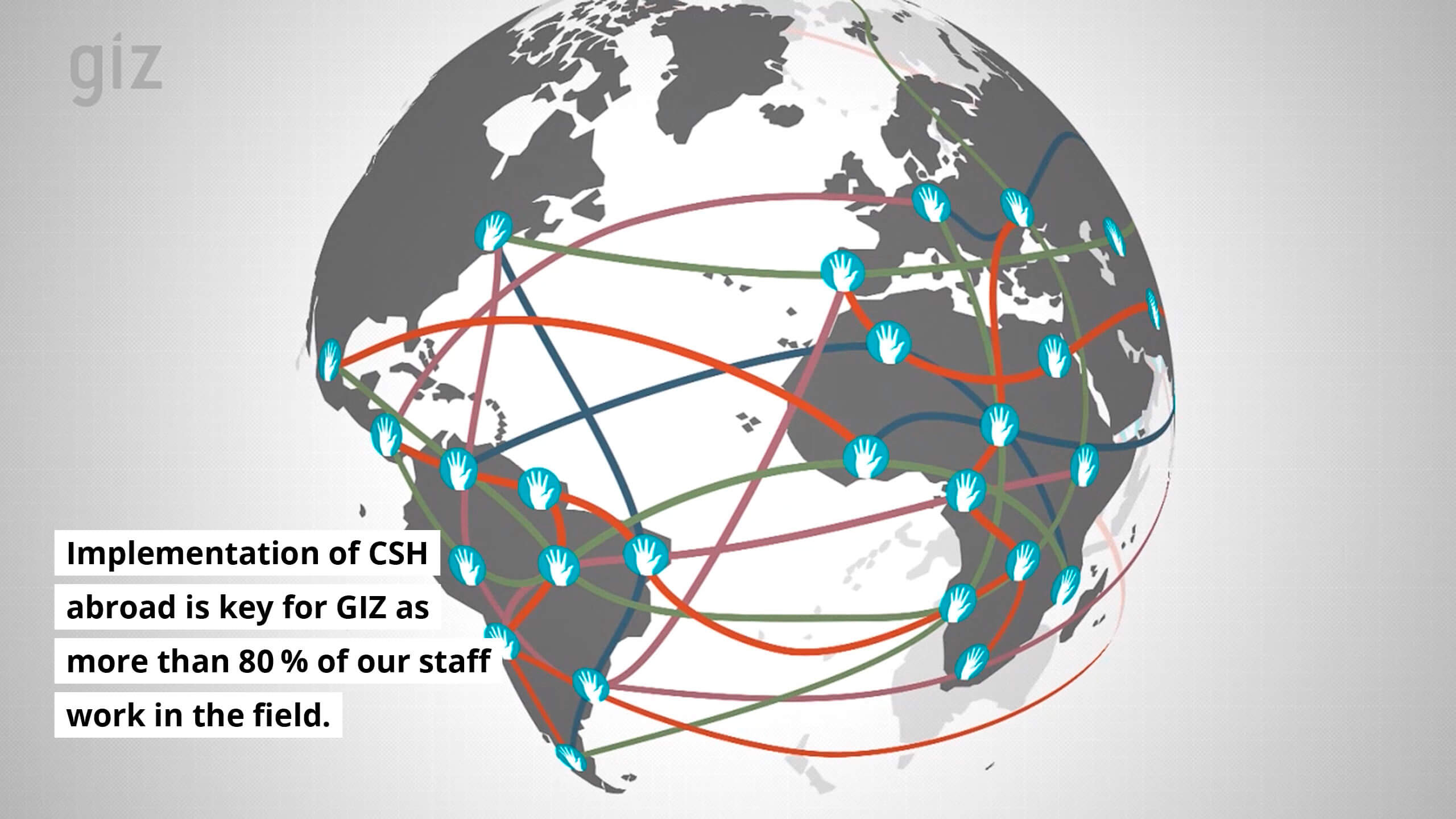 Implementation of CSH abroad is key for GIZ as more than 80% of our staff work in the field.